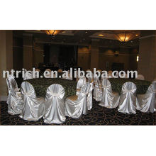 Satin self-tie chair covers, universal chair cover, hotel/banquet/wedding chair covers