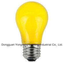 A15 15W / 25W / 30W bulbo incandescente com tinta amarela
