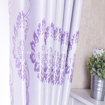 Poliéster Black Yarn Jacquard Blackout Window Curtain