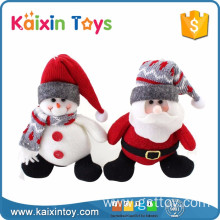 10255300 6 Inch Stuffed Santa Claus Snowman Hanging Outdoor Christmas Decorations