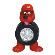 Dog Toy Vinyl Dog with Tire Pet Products