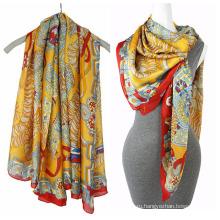 Мода печати шифон пляжный шарф квадратный шарф