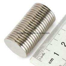Дисковый магнит D12.7X3.175 с клейкой лентой