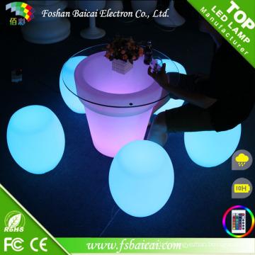 Chaise LED en plastique coloré Bcr-310t
