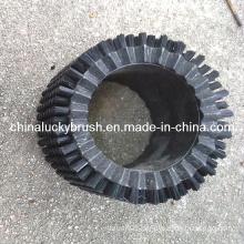 Black Nylon Round Cleaning Brush for Glass (YY-270)