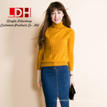 cashmere sweater pullover high collar turtleneck sweater turn-down collar solid color women's basic sweater