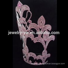 Spider web shape plating custom rhinestone tiara crown