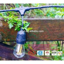 Та-141 СЛТ-140 черный 5мм шнура Сид теплый белый Рождество декоративный свет строк