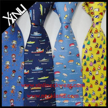 100% Handmade Perfect Knot Custom Print Silk Anime Necktie