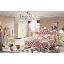 Qualitäts-königliches antikes hölzernes geschnitztes Schlafzimmer-Möbel-Satz (HF-MG019)