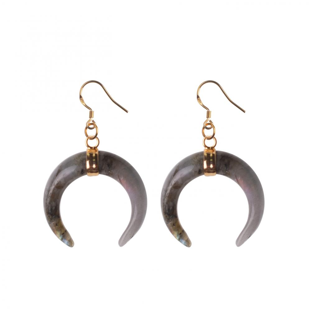 Natural Fashion Oxhorn Women Earrings