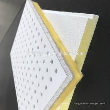 Panneau de plafond acoustique insonorisé de fibre de verre de fibre de verre