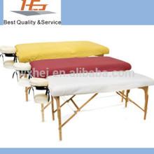 Lençol de algodão / polycotton / polyester para spa / salão de beleza