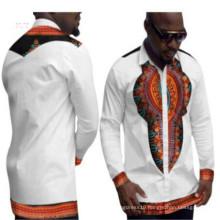 Kente ethnic tribal multi colors flora printed loose fit African clothing java wax 100% cotton men's blouse shirt Dashikis