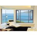 Fenêtre à battance en aluminium trempé à double épaisseur Woodwin