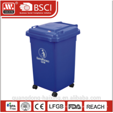 60L Outdoor Plastic Dustbin ,garbage bin ,garbage can with Wheels