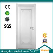 Porte affleurante blanche peinte de forces de défense principale de MDF pour la maison sans verre
