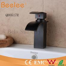 Neue Antike Kugel Matte Black Square Wasserfall Blade Bar Bad Becken Mischbatterie Wasserhahn