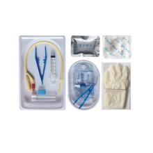 Bandeja de kit de paquete de catéter urinario barato desechable