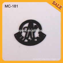 MC181 Guangzhou factory Custom Engraved Clothing Metal Labels for Garment