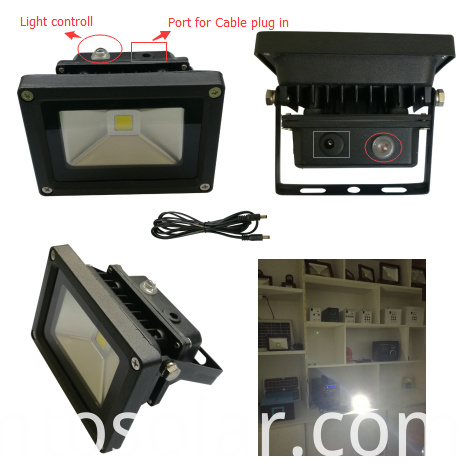 Light-controlled flood light