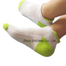 Hombres de algodón poliéster tejido antideslizante calcetines de los deportes
