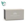 cremoso color blanco elegante terciopelo logotipo de plata estampado personalización caja de papel de trufa de chocolate al por mayor