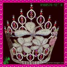 Venda Por Atacado New Designs Rhinestone Crown, Tiara New Product tall cityant crown