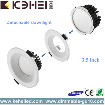 Mini LED branco Downlights regulável 9W
