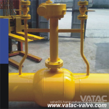 Full Welded Body API 6D Flanged A105 Bury Type Ball Valve