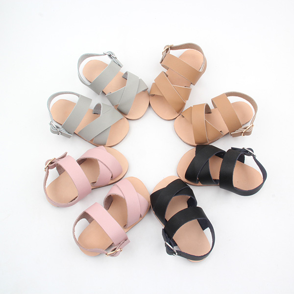 Rubber Soled Leather Sandals Kids