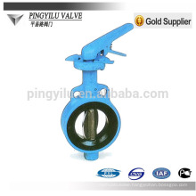 Standard wafer center line cast iron 2 inch butterfly valve