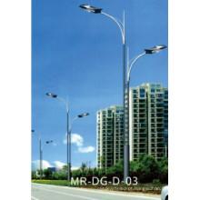 Poste de luz de rua cônico com braço duplo 12m