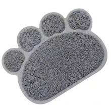 Tapis d'alimentation antidérapant pour animaux domestiques à enroulement étanche en PVC