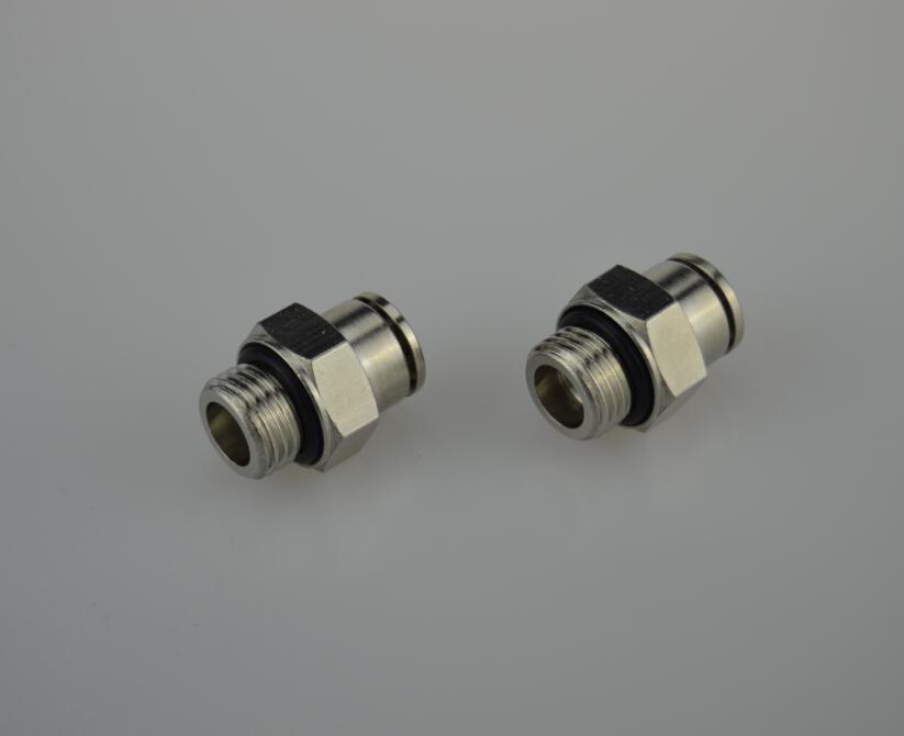 Air fluid bspp thread straight male adaptors fittings