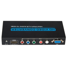 VGA / YPbPr +R/L Audio to HDMI Converter