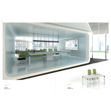 Hot Sale White Office Boardroom Desk Conference Table (H50-0301)