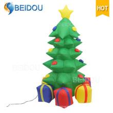 Оптовые рождественские елки Освещение Гигантские надувные светодиодные Рождественская елка