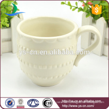 Hot Sale Wholesale Lace Design Ceramic Coffee Cup Factory
