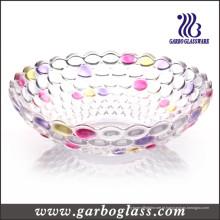 Grande coloridos pérola escultura placa de vidro GB1610yd / p)