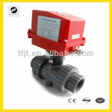 Clapet à bille électrique miniature d'UPVC AC220V pour le système de filtre d'eau et d'eau de Pur et traitement de l'eau