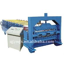 Rolo duplo de aço da frente automática da cor de Cangzhou que forma a máquina