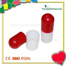 Caixa de plástico de forma de cápsula para presentes promocionais