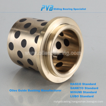 graphite inlaid oiles bearing, bronze guide bearing,500 sliding oilless bearing