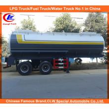 Remolque líquido químico 30m3 para el petrolero ácido de la entrega 20m3