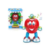 Cartoon Crianças Bateria Dancing Apple Toy (H4871011)