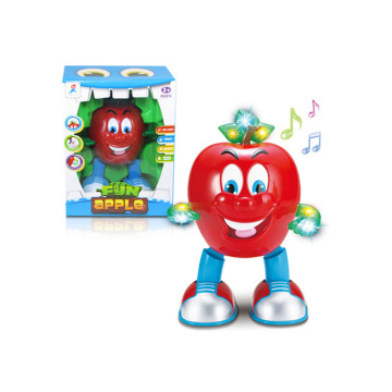 Cartoon Children Battery Operated Dancing Apple Toy (H4871011)