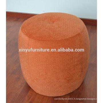 Ottomane orange ronde pour l'hôtel XYN2710