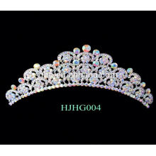 Perle nuptiale tiara strass mariage tiaras couronne cadre cadre couronne