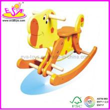 2014 nouveau jouet en bois cheval à bascule pour les enfants, populaire en bois jouet, vente chaude en bois cheval à bascule jouet pour enfants Wjy8101